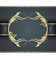 Elegant golden frame banner ornamental vector