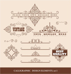 caligraphic design elements vector image