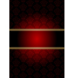 Red gold wallpaper vector