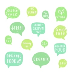 Organic fresh vegan locally grown vector image