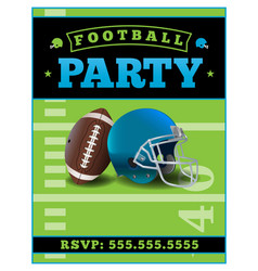 American football party flyer template vector