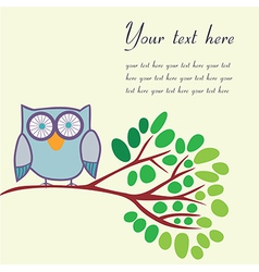 Bird on a branch with place for your text vector image vector image