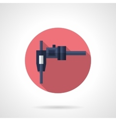 Callipers flat color round icon vector image vector image