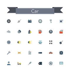 Car flat icons vector
