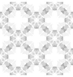 Circle cross gray abstract seamless pattern vector image vector image