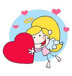 Cupid cartoon vector image vector image