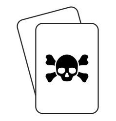 death playing cards vector image