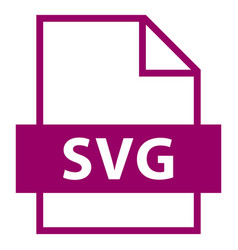 File name extension svg type vector