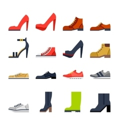 Footwear for all occasions shoes sneakers boots vector