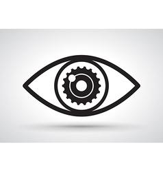 Gear in eye vector