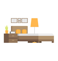 Modern badroom interior design icon vector