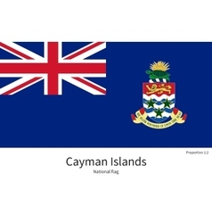 National flag of cayman islands with correct vector