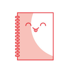 Note book kawaii character vector