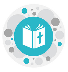 Of faith symbol on bible icon vector