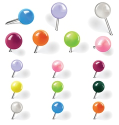 pins vector image vector image