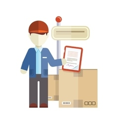 Profession Courier with Box vector image vector image