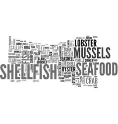 Shellfish word cloud concept vector