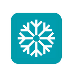 Snow snowfall and snowflake flat icon weather vector