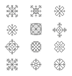 Variations of the ancient latvian sun sign vector