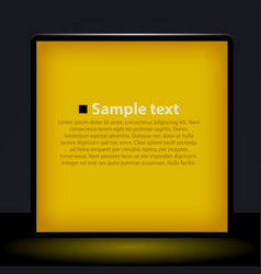 yellow light box vector image vector image