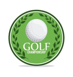 Ball with wreath icon golf sport design vector