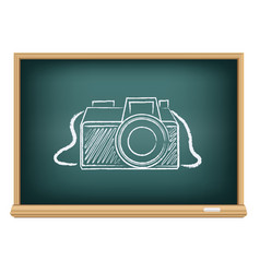 Blackboard photo camera vector