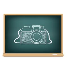 blackboard photo camera vector image