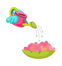 A watering can vector