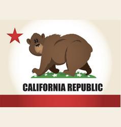 Cartoon california flag vector