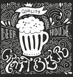Craft beer poster vector