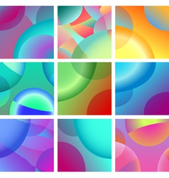 Background abstract glow design set vector