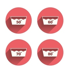 Wash icons machine washable at sixty degrees vector