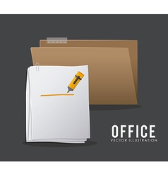Office stuff design vector