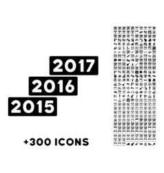 Years stairs icon vector