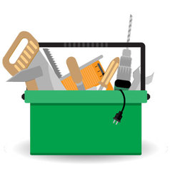 Toolbox with instrument vector