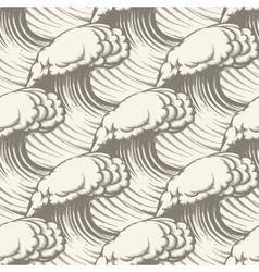 Hand drawn wave seamless pattern vector