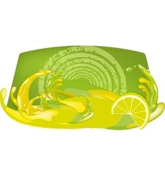 splashes of juice over color background vector image