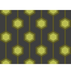 Retro hexagons green seamless tile vector