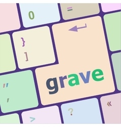 Grave button on computer pc keyboard key vector