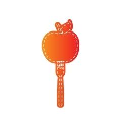 Vegetarian food sign  orange applique vector
