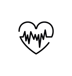 Heartbeat symbol isolated icon design vector