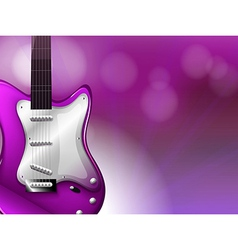 A guitar with a gradient colored background vector image