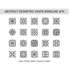 Abstract geometric shape monoline 95 vector