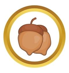 Acorns icon vector image vector image