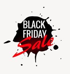 black friday sale label design in ink splash vector image vector image