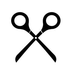 black icon scissors cartoon vector image vector image
