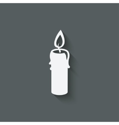 Candle design element vector