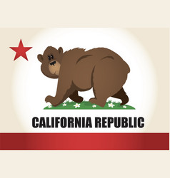 Cartoon california flag vector