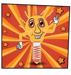 cartoon lamp 2 vector image
