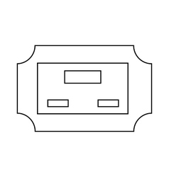 Cinema ticket icon outline style vector image